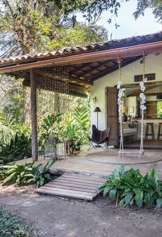 House Bali, Village House Design, Backyard, Patio, Forest House, Tropical Houses, Terrace Garden, House In The Woods, Future House