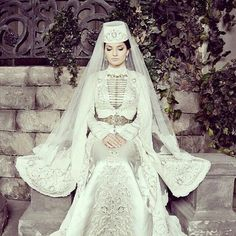 Ingush bride in a national wedding dress
