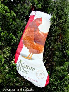 Fresh Eggs Daily®: Repurposed Feed Bag Christmas Stocking Tutorial