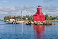 Sturgeon Bay Canal Lights by Phyllis Taylor