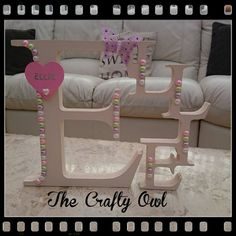 Name Letters, 3 Letter, Hand Painted, Colours, Lettering, Crafty, Facebook, Chair, Painting