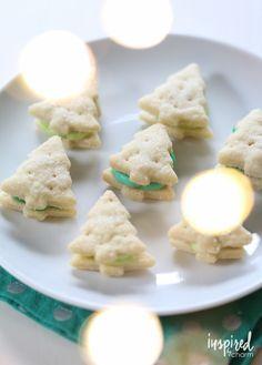 Cream Wafer Tree Cookies