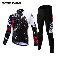 Basecamp Cycling Jersey Long Sleeves Sets Spring Bike Wear Breathable  Bicycle Clothing Riding Outdoor Sports Sponge b55ab2144