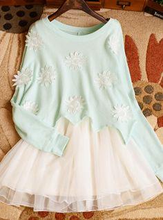 Little Daisy sweater and dress Mint green $32.00  Mint green