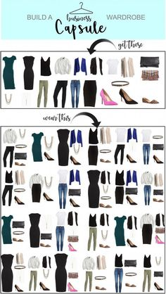 Capsule Wardrobe – Business – Just Posted #wardrobeclassics #classiccollections #capsulewardrobe #lookbook #womensfashionwork