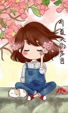 My love 💞 album boy and gril 💞 Kawaii Chibi, Cute Chibi, Kawaii Cute, Anime Chibi, Cute Couple Cartoon, Cute Cartoon Girl, Cartoon Art, Cute Girl Wallpaper, Cartoon Wallpaper