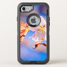 Pink Sakura Flower Blue Sky OtterBox Defender iPhone SE/8/7 Case - tap to personalize and get yours #OtterBoxDefenderiPhoneSE87Case  #japanese #cherry #blossom #sakura #flower Iphone Se, Apple Iphone, Sakura Cherry Blossom, Apple Logo, Protective Cases, Tapas, Sky, Casetify, Flowers