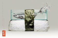 Sushi restaurant ad - Art & Design