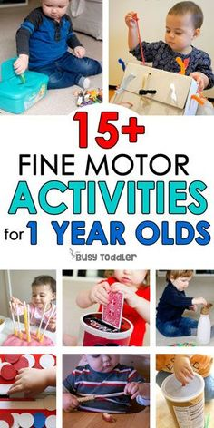 ACTIVITIES FOR 1 YEAR OLDS: Easy activities for young toddlers; perfect for 18 month olds; easy activities for tabies; easy toddler activities from Busy Toddler Activities For One Year Olds, Fun Indoor Activities, Motor Skills Activities, Toddler Learning Activities, Montessori Activities, Infant Activities, 1year Old Activities, 1 Year Old Games, Montessori Baby