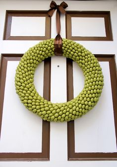 Little Things Bring Smiles: .Acorn Wreath.