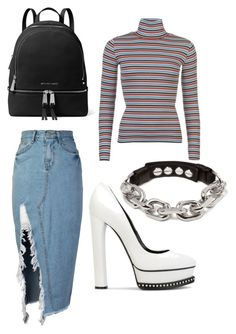 """""""Untitled #266"""" by ninaellie on Polyvore featuring Levi's, storets, Casadei and MICHAEL Michael Kors"""