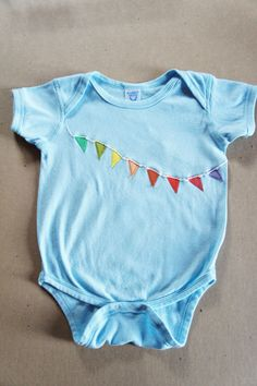 pennant onesie from Your Modern Baby - could imagine a cute kite at the end of this, too!