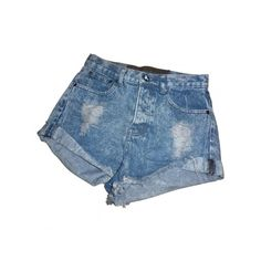 Denim shorts ONE TEASPOON Blue size S in Denim / Jeans Spring / Summer... ❤ liked on Polyvore featuring shorts, bottoms, pants, outfits, denim short shorts, short jean shorts, oneteaspoon, denim shorts and summer denim shorts