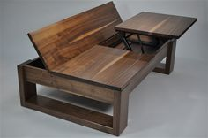 Paul Tellier Fine Woodwork Studio Furniture Design Custom Lift Up Coffee Table