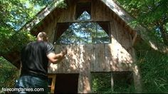 Zen forest house: 11K, handcrafted, small home in Oregon - YouTube