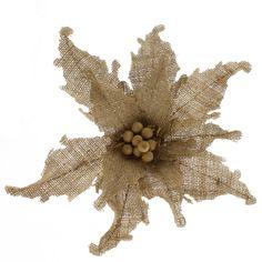 Natural Burlap Poinsettia