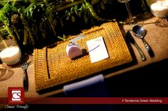 Montaje mesa green wedding