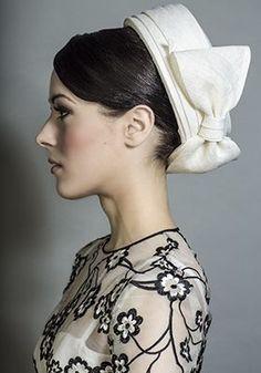 Rachel Trevor-Morgan Millinery - Ivory straw fine straw Jackie O pillbox with bow. #passion4hats
