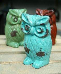 Look at this Blue Owl Figurine on #zulily today!