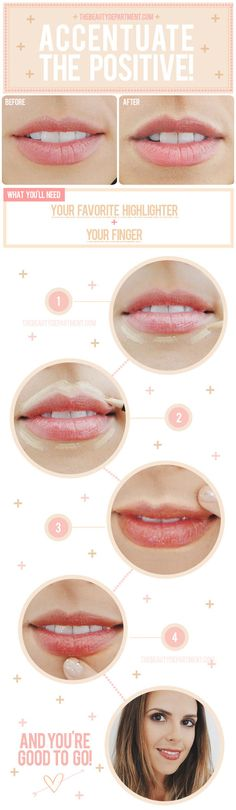lip highlight #makeup #doityourself #tutorial #stepbystep #howto #practical #guide #lips