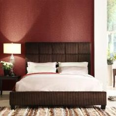 @Overstock - This upholstered full-size bed has a high-profile, tufted headboard that is covered in chocolate corduroy for a soft and stylish feel. The frame is made out of solid rubberwood for durability. The wood is finished in black to add style to the bedroom.http://www.overstock.com/Home-Garden/Sarajevo-Chocolate-Corduroy-Full-size-Bed/6559717/product.html?CID=214117 $323.99