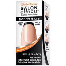 Sally Hansen Salon Effects Real Nail Polish French Manicure Strips, Noir Boudoir