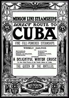 Turn of the Century Cuba Steamship Cruise Ad