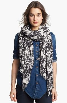 Sooo excited for my new scarf.  No back to school clothes this year...instead splurged on a back to fall scarf :)  MARC BY MARC JACOBS 'Distressed Canvas' Scarf | Nordstrom