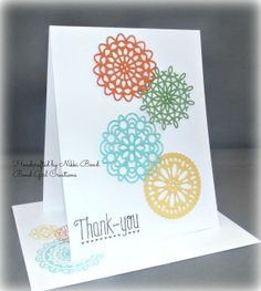 Set of 4 Doiley Thank You  Handmade Blank by BondGirlCreations26, $12.00