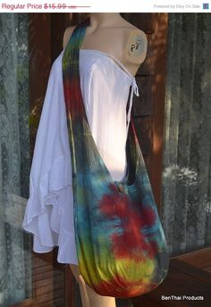 ON SALE Tie Dye Bag Purse Classic Buddha Hobo by BenThaiProducts, $14.55