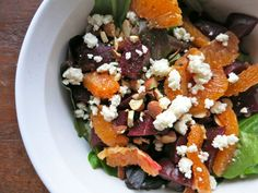 Beetroot, Orange & Feta Salad