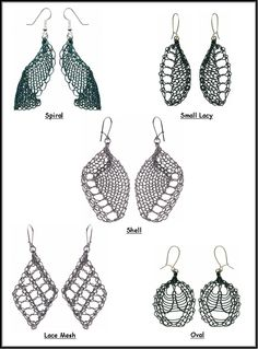 Wire earrings 487796203392660408 - Machine Knitted Wire Earrings – Pattern Cover Instructions to make 5 different styles of earrings Source by agodaert Wire Crochet, Lace Heart, Lace Jewelry, Bobbin Lace, Heart Patterns, Wire Earrings, Lace Detail, Creations, Knitting