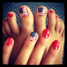 Fourth of July nails!!