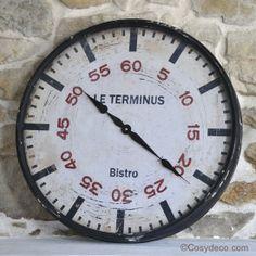 Grande Horloge Terminus Cosydeco.com #horloge