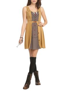 Dress with a Tenth Doctor costume design.