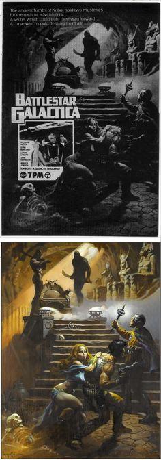 FRANK FRAZETTA - Battlestar Galactica TV ad