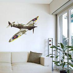 Spitfire Aeroplane Wall Art Sticker Decal Mural for Boys ... https://www.amazon.co.uk/dp/B0121FJ5DO/ref=cm_sw_r_pi_dp_2T3LxbY7R91W9