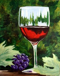 advanced painting--wine glass