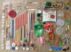 PRE-Coastal Clean-up = catching plastic before it gets to the creek, heads to the bay, tumbles around photodegrading into smaller bits - Today = bubble wands, glow stick, tooth flosser, plastic fuze beads, googly eye, foam glitter stars, curly ribbon, and a few straws.. But I'll harp on the plastic clip at the base of the little piece of blue balloon in the lower right hand area beneath all of the curly ribbon. A plastic clip. To close a balloon. That's an actual thing.     thereisnoaway.net