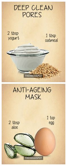 10 Amazing Natural Homemade Face Masks #Natural #Skincare #Health