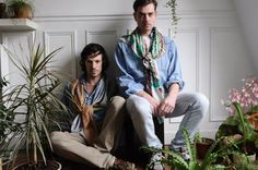 Cailloux & Orange  Hortus collection FW12  photo: Maxime Ballesteros  Model: Anthony Jacquot-Boeykens &  Jonathan Grandcollot