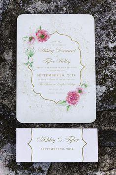 Pretty invitations: http://www.stylemepretty.com/pennsylvania-weddings/lancaster/2015/04/23/rustic-chic-wedding-at-the-farm-at-eagles-ridge/ | Photography: Harper Parker - http://harperparker.com/