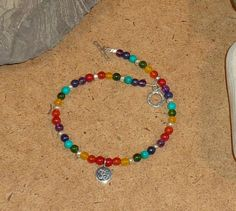 Mulit-Gemstone Chakra Beaded Anklet With by ConsciousExpressions