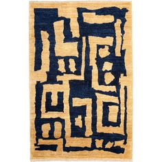 Blake Hand Knotted Area Rug - 3x5