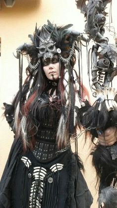 My new necromancer outfit selfmade # Costume # c . - My new necromancer outfit selfmade # Costume # colorful Headdress, Headpiece, Costume Halloween, Voodoo Costume, Voodoo Priestess Costume, Sorceress Costume, Barbarian Costume, Halloween Inspo, Witch Doctor