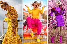 Blogerky radia - ako kombinovať farby? Aloe Vera, Dresses With Sleeves, Street Style, Outfit, Long Sleeve, Instagram, Fashion, Outfits, Moda
