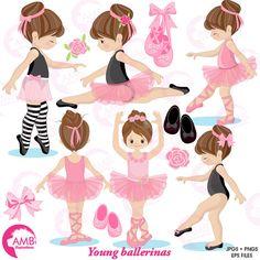 Ballerina clipart ballet clipart pink ballerina girl Source by silvamartacs