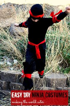 Easy DIY Ninja costume | 25+ creative DIY costumes for boys
