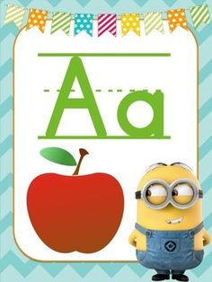 Minion Themed Alphabet Posters With Beginning Sound Pictures