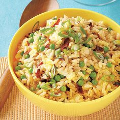 Sweet Pea Fried Rice Recipe by All You | Maypurr
